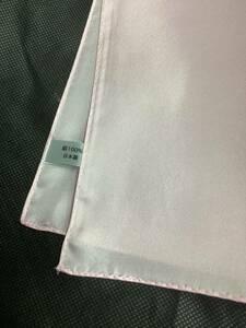 新品未使用 薄ピンク色お洒落ポケットチーフ 日本製シルク100%お買い得サービス