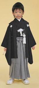 [京の舞姿]七五三5歳合繊着物11点セット紋付(家紋入れ込み)