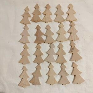 ハンドメイド材料 クリスマスツリー 白木