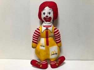 期間限定大幅値下げ! 80s ヴィンテージ マクドナルド ロナルド ピロードール / ラグドール McDonalds ドナルド 人形 フィギュア / VG-2-B