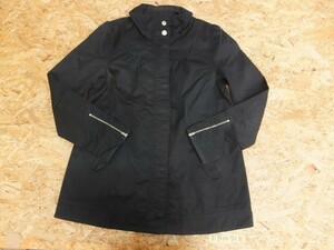 〈レターパック発送〉H&M レディース 袖ジップ付き 比翼 ジップジャケット 40 黒