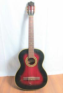 送料980円 弦楽器 DIANA ダイアナ GUITAR クラシックギター ヴィンテージヴァイオレット バンド 音楽 ライブ ブラック&レッド