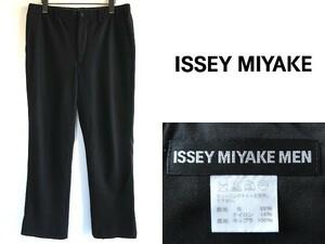 ISSEY MIYAKE MEN イッセイミヤケ メン 2012AW ウールイージーパンツ スラックス 3 黒 ブラック 日本製