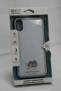 J-005【訳アリ・未使用品】グルマンディーズ iPhoneXS Max(6.5inch) ケース IIIIfit イーフィット サンリオ キキ&ララ san-909ts