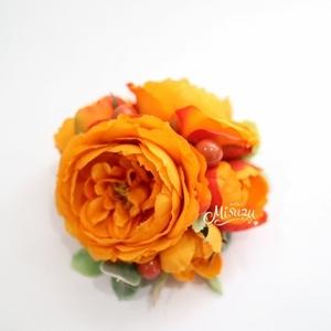 *misuzu*コサージュ【エクリュ*オレンジ】入学・卒業・発表会 コサージュランキング1位の人気♪ ヘッドドレス
