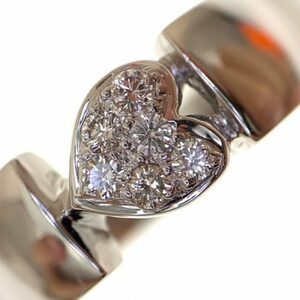 K18WGダイヤモンド0.13ctファッションリング鑑別書付き