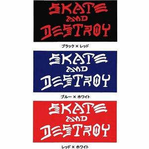 NEW ■ THRASHER MAGAZINE スラッシャーマガジン スケートアンドデストロイ ステッカー ブルー×ホワイト/NF344 スケート スケボー