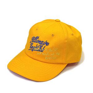 ビリオネアボーイズクラブBILLONAIRE BOYS CLUB ロゴ刺繍 キャップ 帽子 イエロー 新品 ファレルウイリアムス