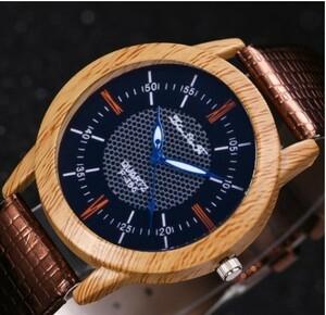 M391 1ピース自然木製腕時計2018ミニマリスト時計竹本革ファッション男性女性クリエイティブクール男性女性ギフト