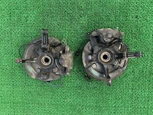 タント カスタム RS ターボ L375S フロントハブナックル ブレーキキャリパー ディスクローター 左右