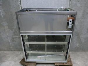A291 大穂製作所 OHS-900 冷蔵両面ガラスショーケース 100V 居酒屋 カフェ 動作確認済み 厨房 中古厨房 宇都宮