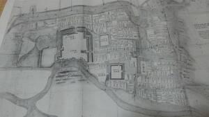 上田 仙石時代上田城及び城下町図
