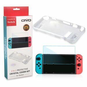 Nintendo Switch 耐衝撃 保護カバー 保護フィルム クリーナー 付き ソフトカバー ニンテンドースイッチ 任天堂