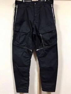 名作 ストーンアイランド シャドウプロジェクト STONE ISLAND SHADOW PROJECT 17SS VENTED CARGO PANTS 48 ブラック 定価7.4万