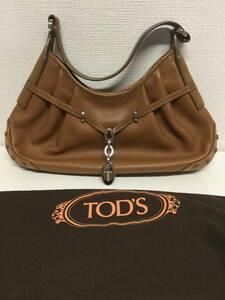 【未使用】 TOD'S トッズ レザーショルダーバッグ