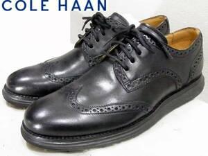 即決は送料無料 COLE HAANオックスフォード7.5Mブラック25cmナイキ ルナグランド黒 ドレスシューズ ウイングチップ ビジネス コールハーン