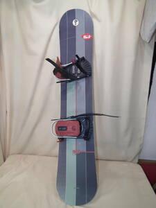 中古 スノーボード 143㎝  ビンディング付き  SANTACRUZ サンタクローズ フリースタイルボード 現状品