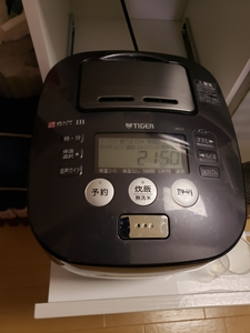 ☆中古 圧力IH炊飯ジャー 炊飯器 TIGER タイガー JKX-V 圧力IH 5.5合炊き 炊きたて アーバンブラック 15年製 動作確認済み☆