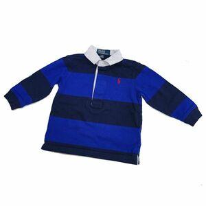 【中古品】Polo★by Ralph Lauren 半袖 ポロシャツ サイズ80 ブルー・ネイビー