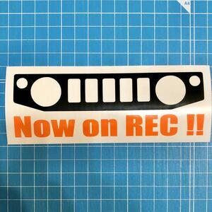 ドライブレコーダー ステッカー JB64W ジムニー スズキ クロカン JIMNY リフトアップ 林道 ステンシル 4wd 世田谷ベース 74W