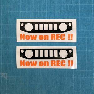 2枚セット ドライブレコーダー ステッカー JB64W ジムニー スズキ クロカン JIMNY リフトアップ 林道 ステンシル 4wd 世田谷ベース 74W2