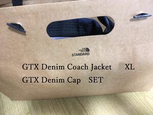 直営店限定 XL ザ ノースフェイス THE NORTH FACE GTX Denim Coach Jacket GTX Denim Capセット
