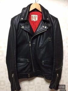 廃盤☆lewis leathers ルイスレザー 441T サイクロン タイトフィット 34 メンズ カウハイド ライダース ジャケット ブラック ライトニング
