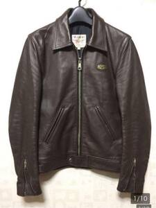 ★☆lewis leathers ルイスレザー コルセア タイトフィット 32 カウハイド レザー ライダース ジャケット 32 メンズ ブラウン ドミネーター