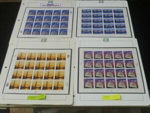 20 M №19 アメリカ切手 2001-02年 2000年シリーズ 大型高額面 #J 1800-23 4種完 20面シート 未使用NH・VF 4リーフ