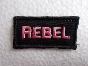 【中古品】REBEL 反乱 革命 メッセージ 名言 ワッペン/ゲバラ パッチ 刺繍 USA カスタム 古着 147