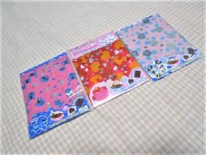 未使用 ラッピングシート 3種 アルミシート お菓子 お弁当 チョコレート 包装 包み紙