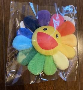 ② 新品 村上隆 お花ストラップ レインボー Flower Key Chain フラワー カイカイキキ Zingaro Kaikai Kiki お花 キーホルダー バッジ