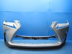 【即決有】 レクサス NX AGZ10 AYZ10 純正 フロントバンパー スポイラー付 プラチナムシルバーM、1J4 52119-78010 (m039587)