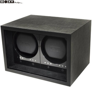 new work!BOXY Design/ Voxy SE02-BK SAFE ECO 2 ps to coil touch panel adaptor attaching watch Winder new goods * free shipping