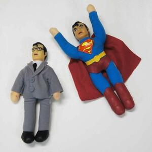 昭和レトロ スーパーマン&クラーク アンティークぬいぐるみ プレミアム プラッシュドール在庫1点限り
