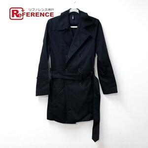 DIOR HOMME ディオール・オム スプリングコート ベルト付き ダブルブレスト アウター トレンチコート ブラック メンズ