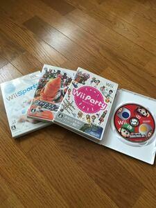 【値下げ】Wiiソフト   4枚セット Wiiスポーツ、Wiiパーティなど