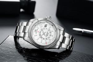 【日本未発売品】最落なし【PAULAREIS】新作モデル デイトジャスト腕時計 Stainless シルバーホワイト 自動巻き オマージュ
