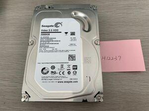 送料無料 Seagate Video HDD ST2000VM003-1ET164 2TB 3.5インチ SATA HDD2TB 使用時間581H★ビデオ等用H12237