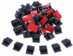 【送料無料】 LOKIPA ケーブルクリップ 配線止め コードクリップ 収納 ケーブル固定具 テープ有り 車用 家庭用 事務室用 (40pcs)