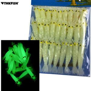 ワームグローエビ餌 27 個 1.7in Grub ワーム 小さな淡水照明 グローダークエビソフトルアー k-1720