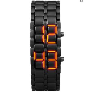 青少年スポーツ腕時計 防水 電子第二世代バイナリ LED デジタルメンズ腕時計 合金リストストラップ時計 k-1361