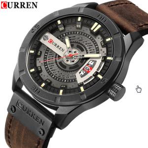 高級ブランド 男性ミリタリースポーツ腕時計 メンズクォーツ 日付時計男カジュアル革腕時計 レロジオ Masculino k-1413