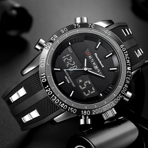 高級ブランド腕時計 男性用スポーツ腕時計 防水 LED デジタルクォーツメンズミリタリー腕時計 時計男性レロジオ k-1417
