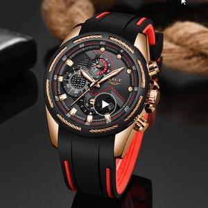 新メンズ腕時計トップ 高級ブランドメンズユニークスポーツウォッチ メンズクォーツ日付時計 防水腕時計レロジオ k-1420