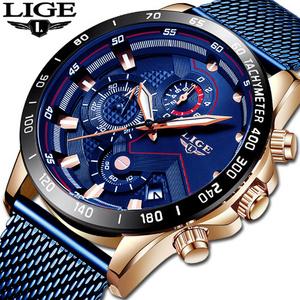 ファッションメンズ腕時計 トップブランド高級腕時計 クォーツ時計ブルー腕時計 防水スポーツクロノグラフレロジオ Masculino k-1428