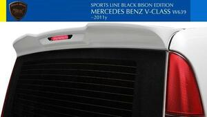 【M's】W639 ベンツ Vクラス ビアノ 3.2 V350(前期/後期)WALD Black Bison ルーフスポイラー(LEDランプ付属)//FRP製 ブラックバイソン