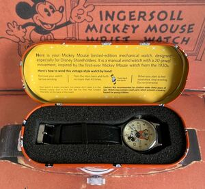 ミッキーマウス 手巻腕時計 1933復刻 株主限定