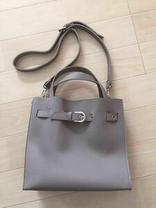 新品未使用 2wayバッグ ショルダーバッグ ハンドバッグ グレーベージュ トートバッグ 通勤 通学 おしゃれ 韓国雑貨