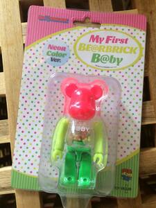 MY FIRST BE@RBRICK B@BY Neon Color Ver. 100%(ベアブリック・メディコムトイ・千秋・フィギュア)